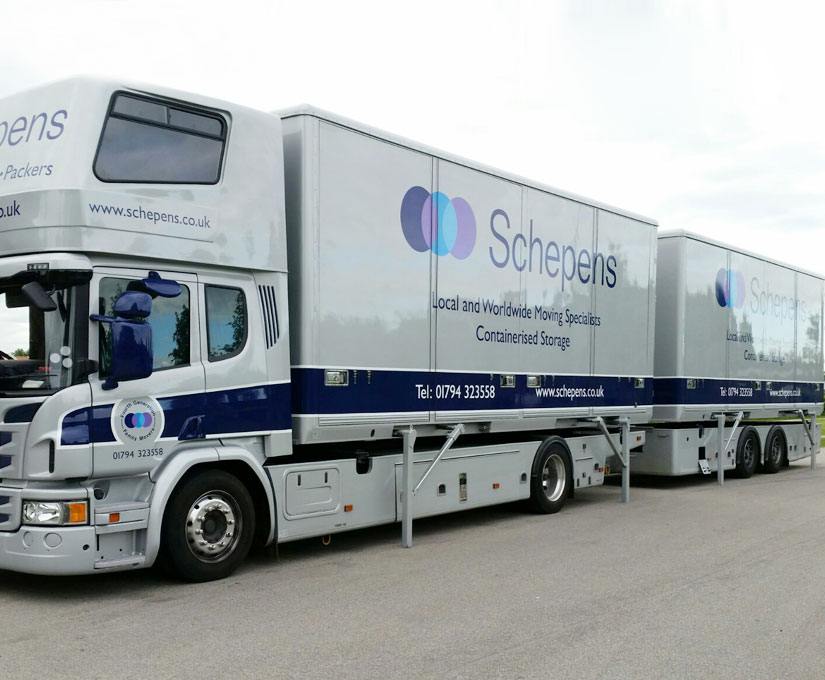 containerised storage lorry